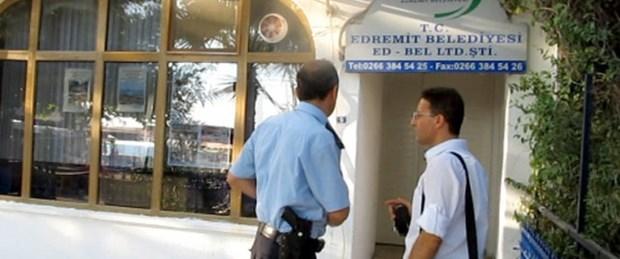 Edremit Belediyesi'ne rüşvet baskını