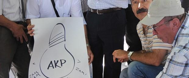 Elektrik zammına 'mumlu' protesto
