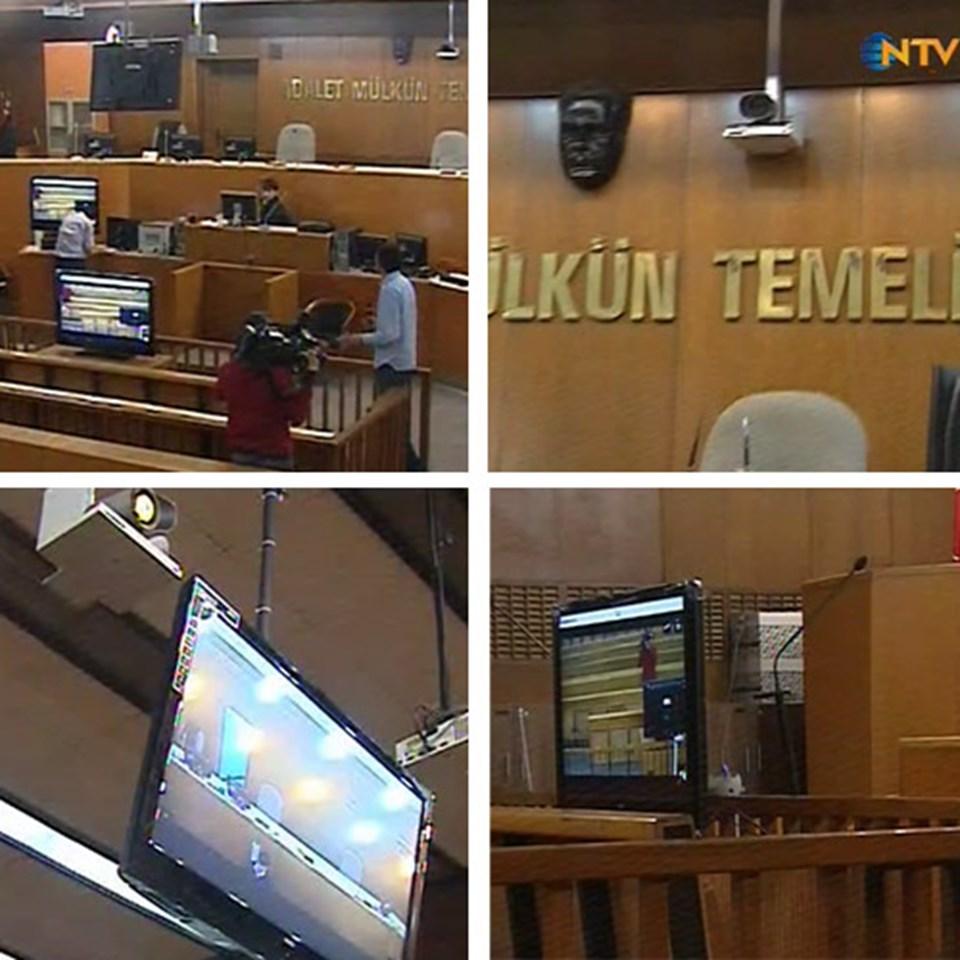 NTV'den Gökhan Gerçek, duruşma için hazırlanan salona girdi