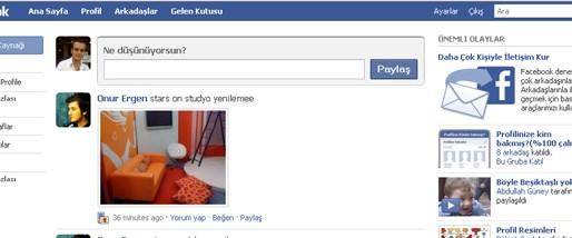 Facebook ana sayfasını yeniledi