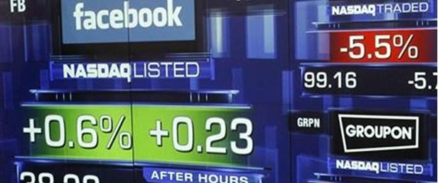 Facebook hisseleri ikinci günde battı