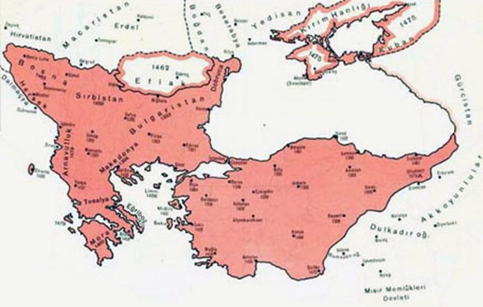 Ölümünd Osmanlı İmparatorluğu'nun sınırları.