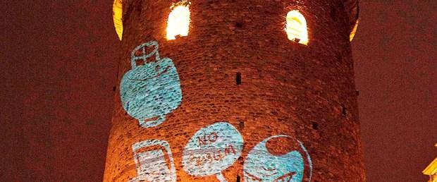 Galata Kulesi'nden mesaj