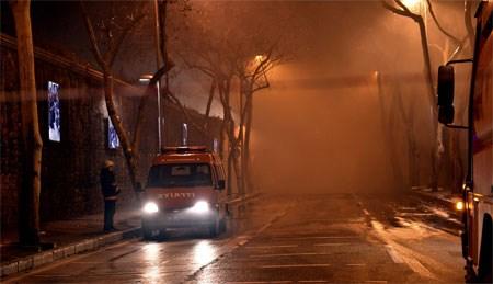 Yangın sırasında bölgeyi yoğun duman kapladı.