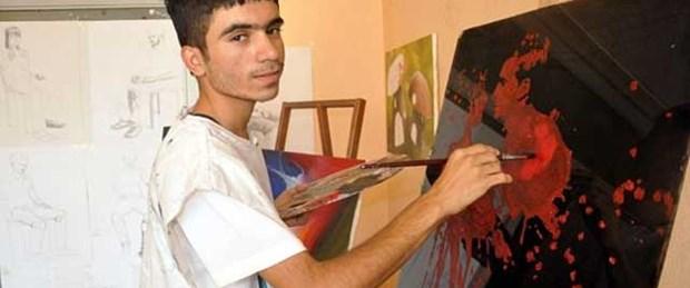 Genç ressamın hayalleri tandırda yanmamış
