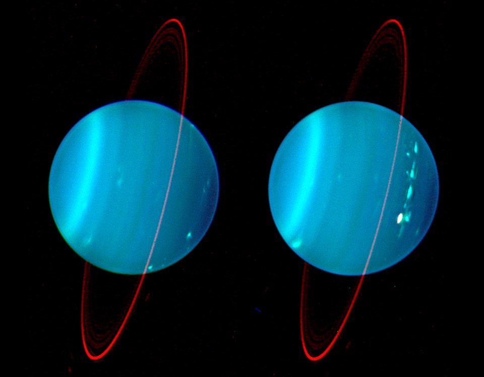 Uranus'ün 2004'te çekilen bir fotoğrafı.