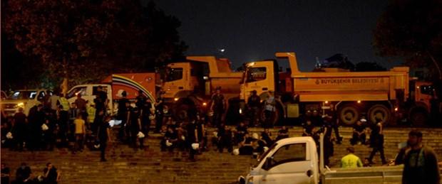 Gezi Parkı'na müdahale