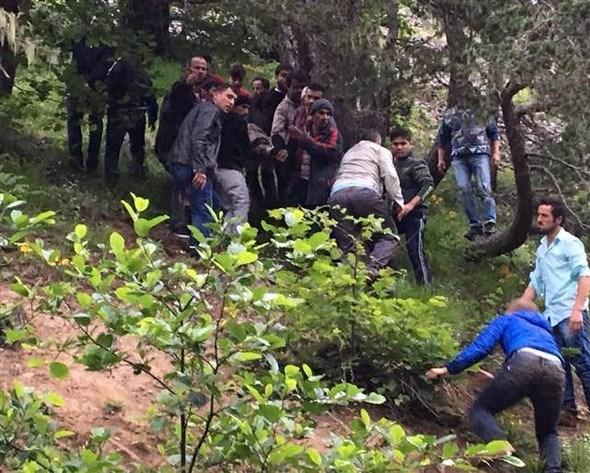 Kaza bölgesinden ilk fotoğraflar