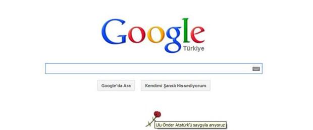 Google Atatürk'ü andı