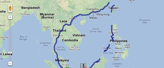 Google Haritalar ile 8 bin kilometre yürüdü