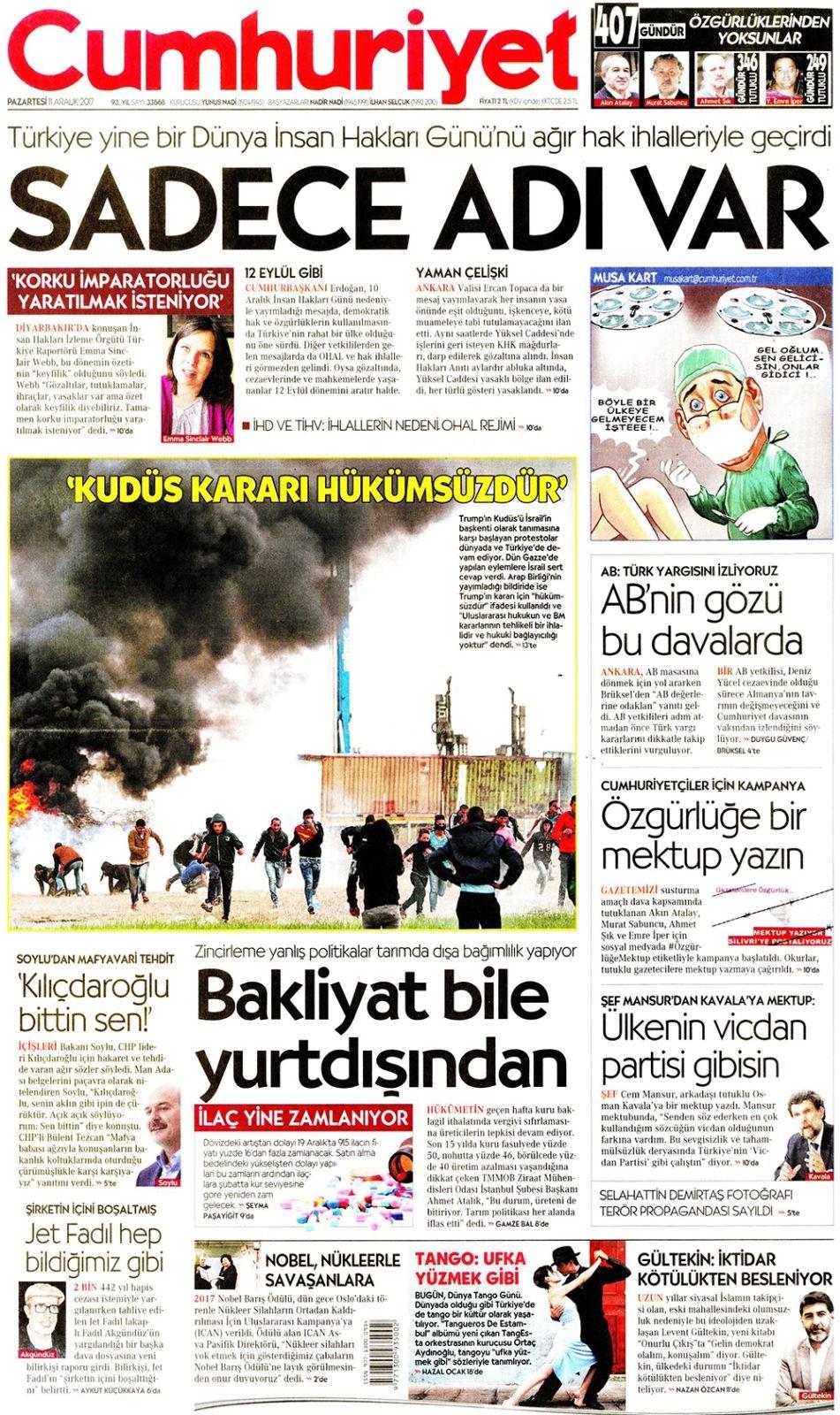 Gazeteler  Gazete  Gazete Oku  Gazete Manşetleri