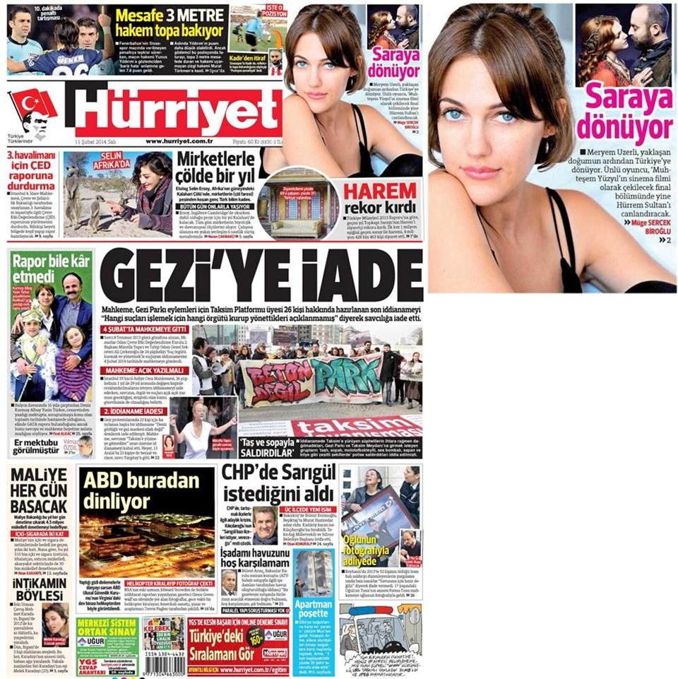 Günün gazete manşetleri - 11 Şubat 2014
