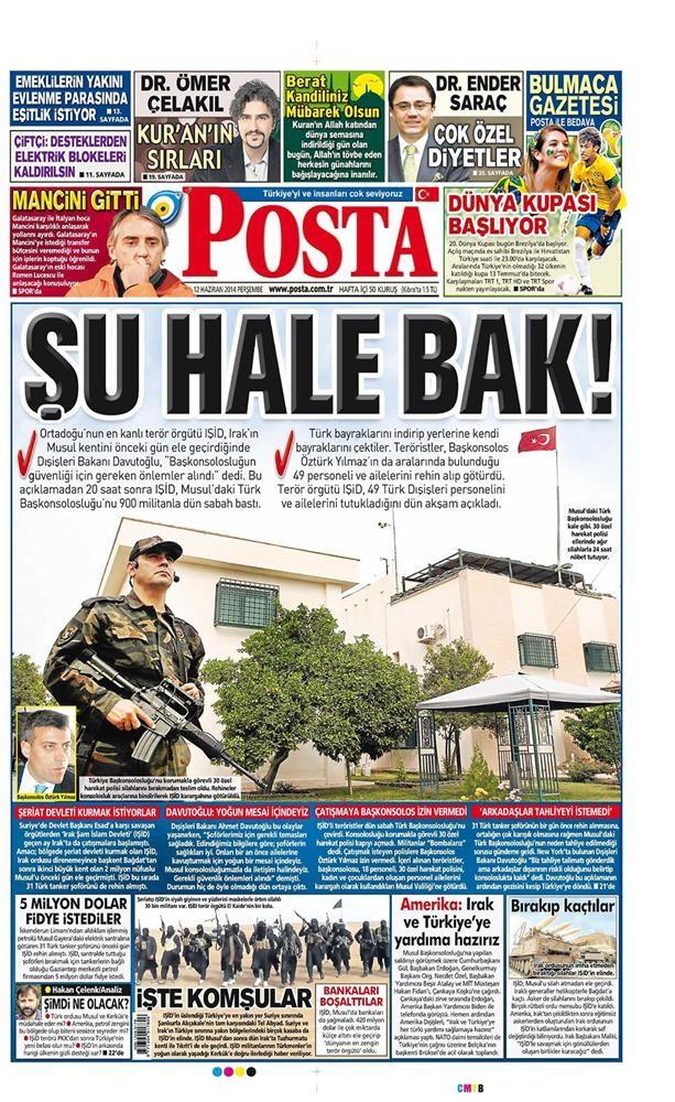 Günün gazete manşetleri - 12 Haziran 2014