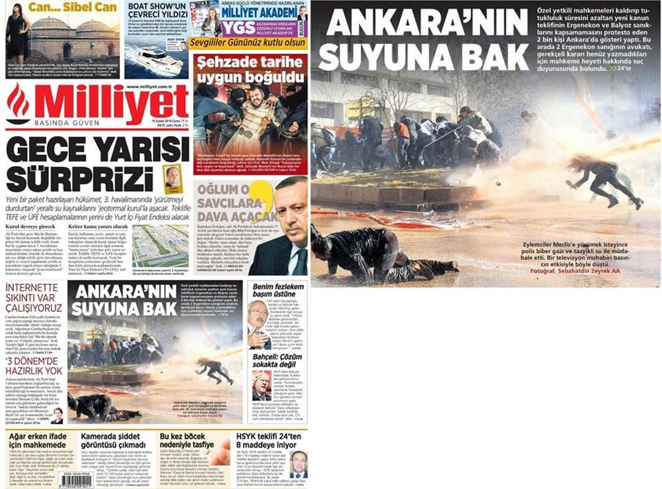 Günün gazete manşetleri - 14 Şubat 2014