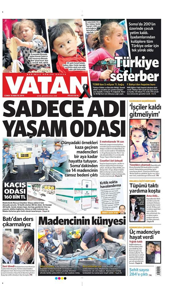 Günün gazete manşetleri - 16 Mayıs 2014