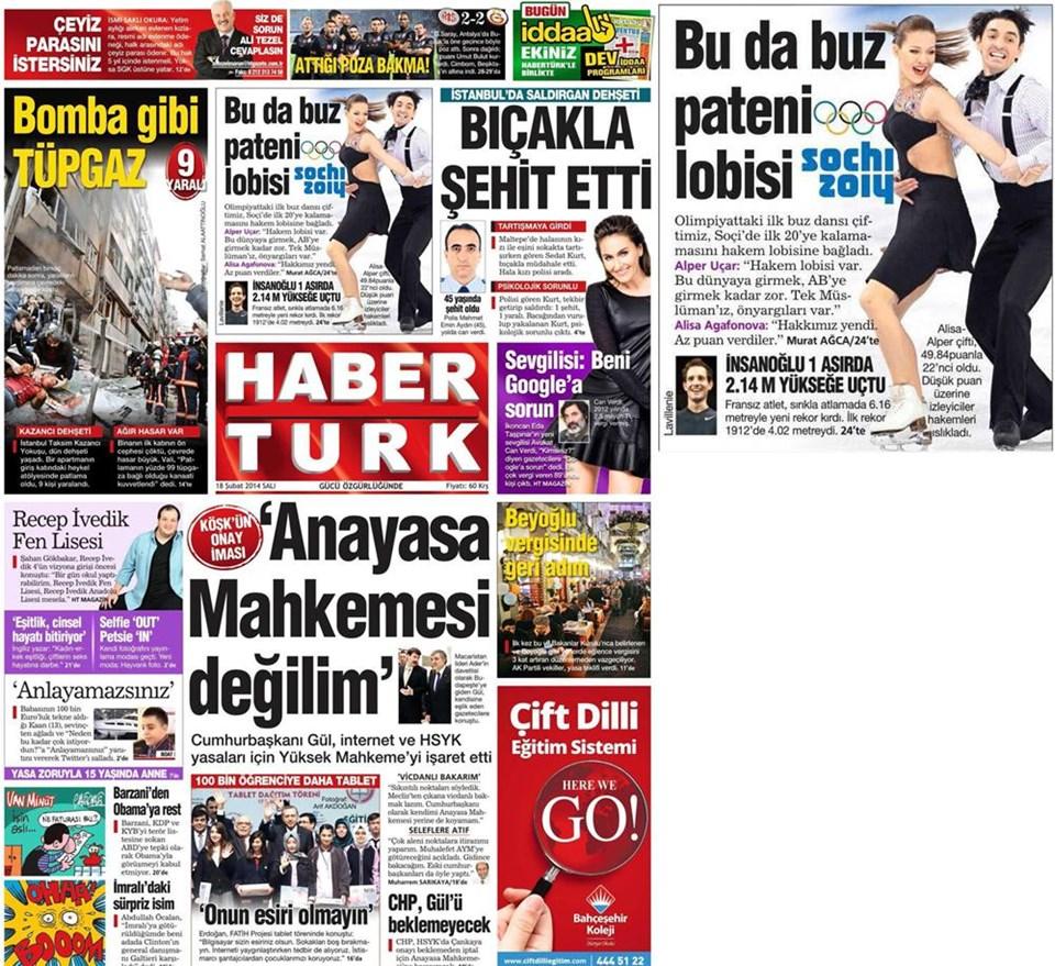 Günün gazete manşetleri - 18 Şubat 2014