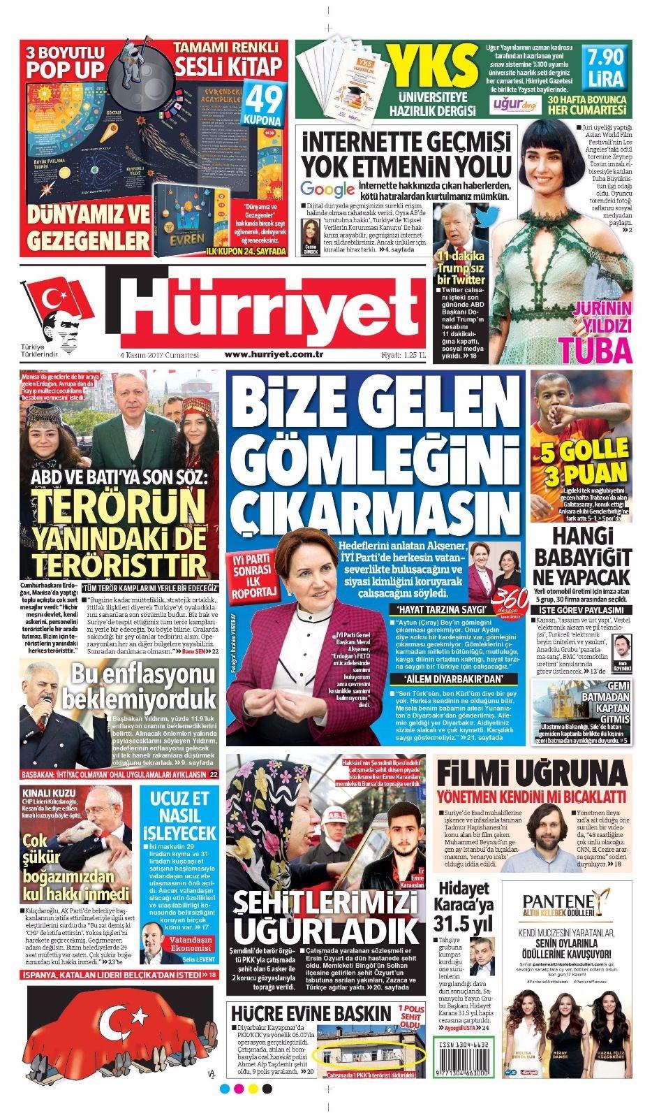 Gazete 1 Birinci Sayfaları  Net Gazete