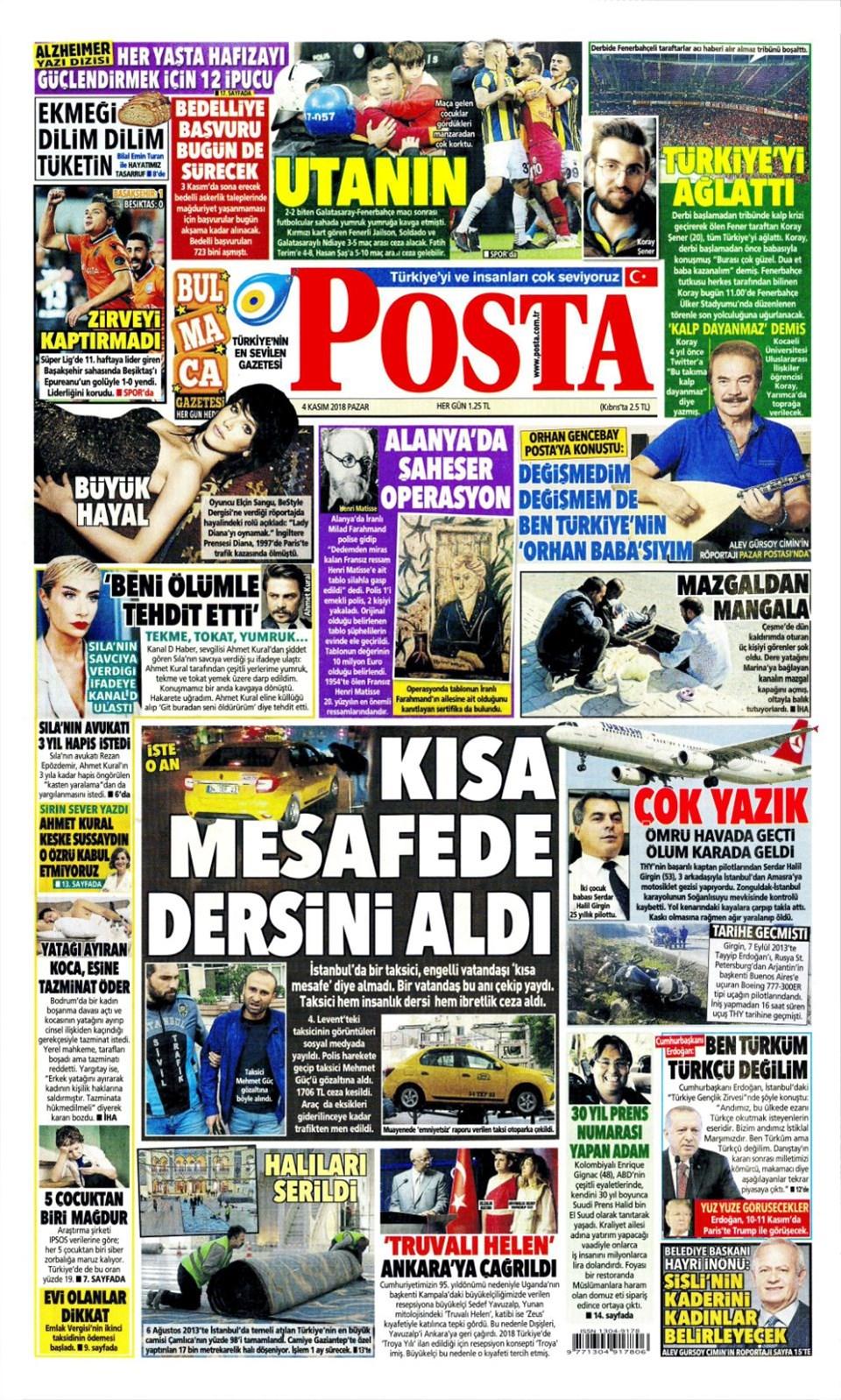 4 Kasım 2018 Günün Gazete Manşetleri Son Tv