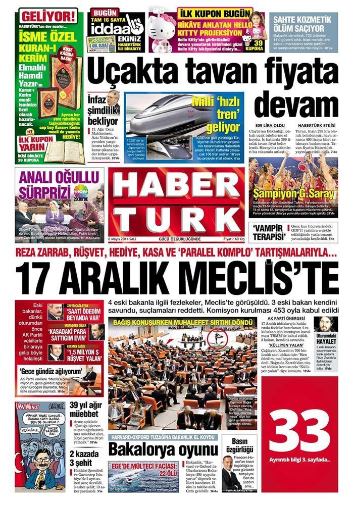 Günün gazete manşetleri - 6 Mayıs 2014