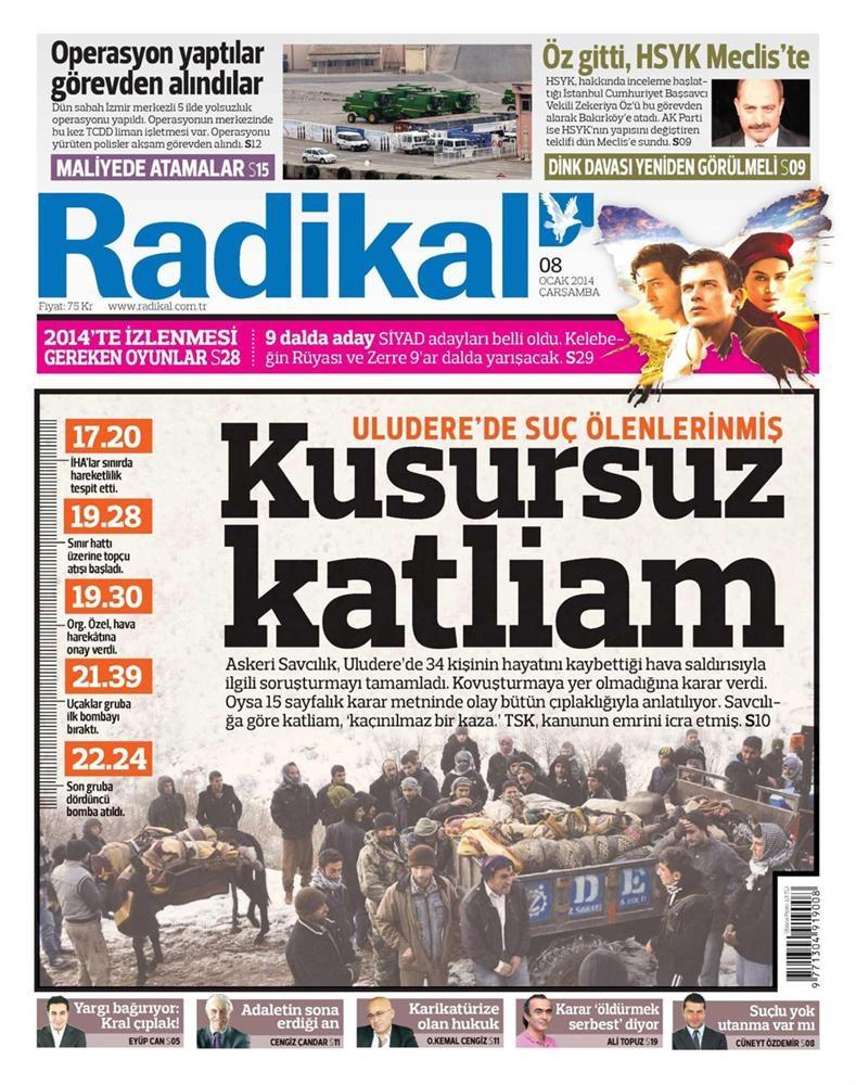 Günün gazete manşetleri - 8 Ocak 2014