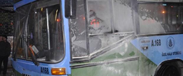 Halk otobüsü benzin alırken yandı