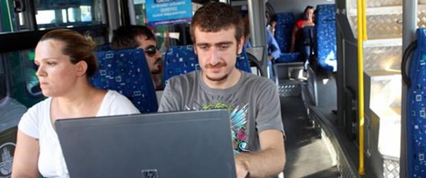 Halk otobüsünde ücretsiz internet