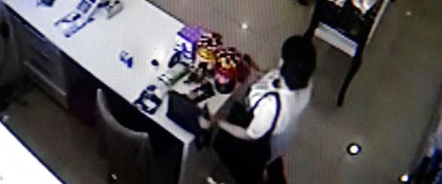 Hamile hırsız kameralara yakalandı