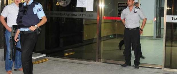 Hastanede görevli polise silahlı saldırı