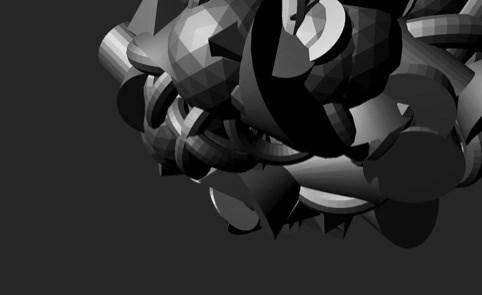 Düşünmeyen beynin bilgisayardaki3D görüntüsü.