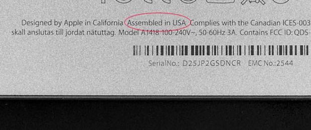 'iMac'ler ABD'de üretiliyor'