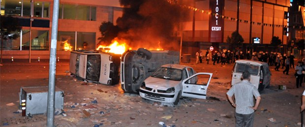 İnegöl'de tahrik sonrası 44 gözaltı