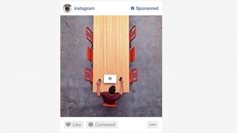 Instagram'ın sunduğu reklam örneği.