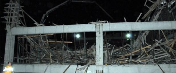 İş hanı inşaatında göçük: 4 yaralı