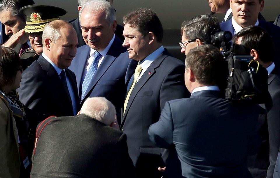 Rusya Devlet Başkanı Vladimir Putin de Dörtlü Suriye Zirvesi için İstanbul'da.