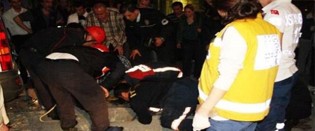 İstanbul'un göbeğinde rögara düştü