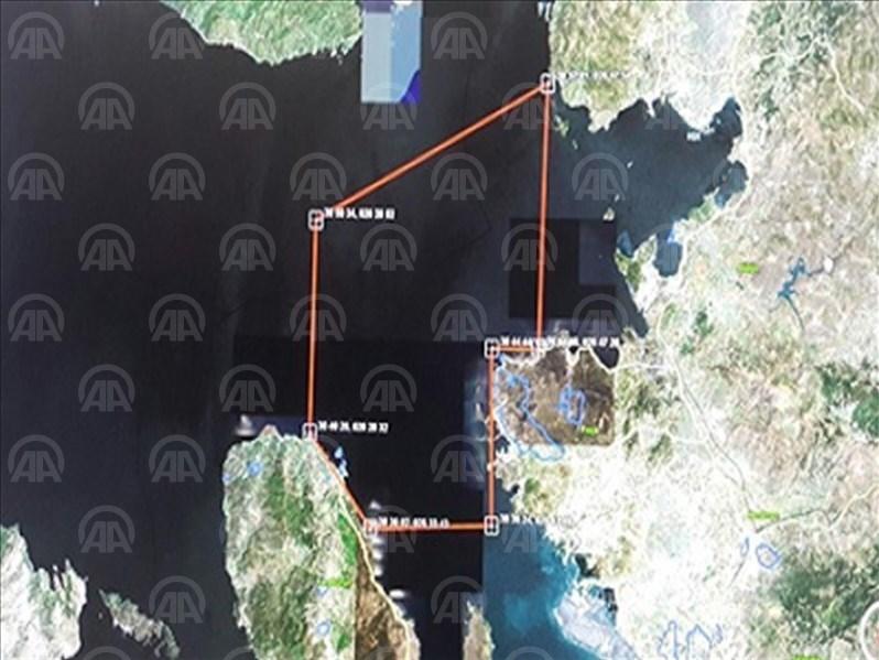 Sahil Güvenlik Komutanlığı olayın yaşandığı bölgenin haritasını yayınladı.