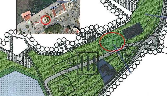 Planda, meydanın olduğu bölge, fuar, panayır ve festival alanı olarak gösteriliyor. (Büyük görmek için tıklayın)