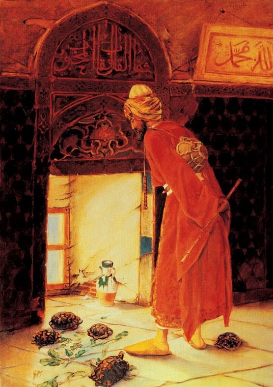 Osman Hamdi Bey'in en ünlü eseri 'Kaplumbağa Terbiyecisi'