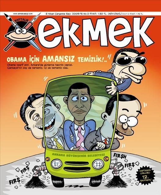 Karikatüristlerin dört gözle beklediği Obama