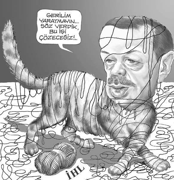 Kediden bugüne Erdoğan karikatürleri