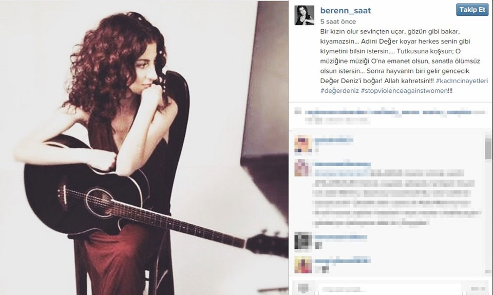 Beren Saat'in Instagram açıklaması