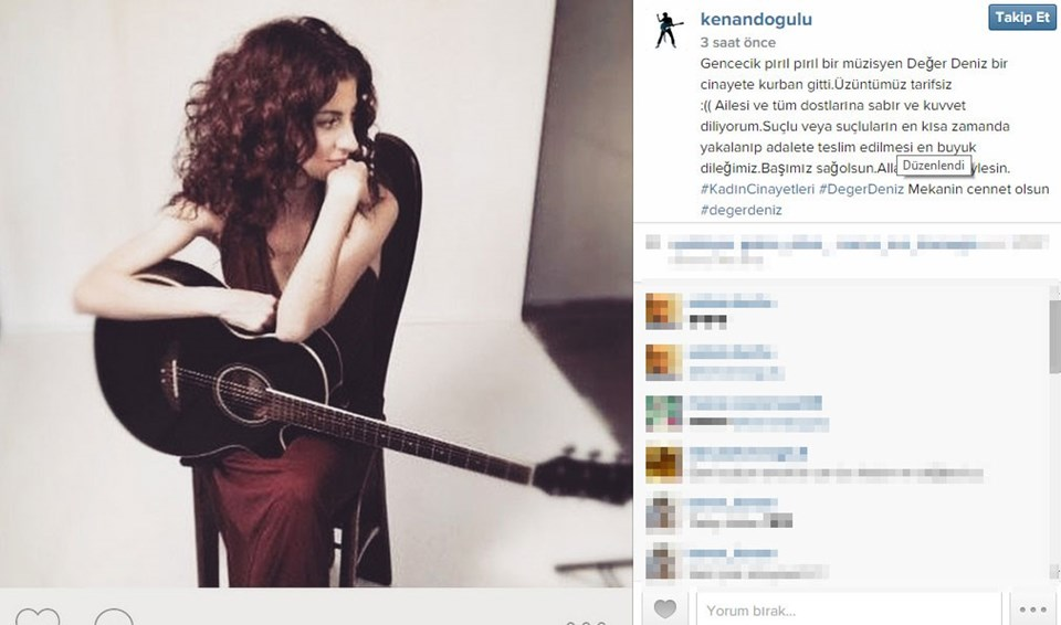 Kenan Doğulu'nun Instagram mesajı