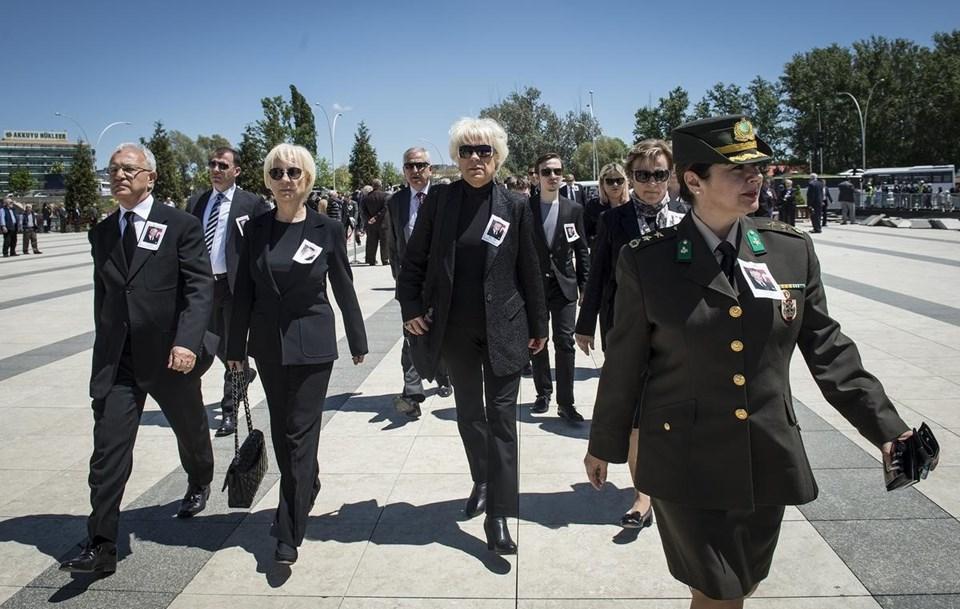 Karargah'taki törene ailesi ve görevli askerler katıldı.