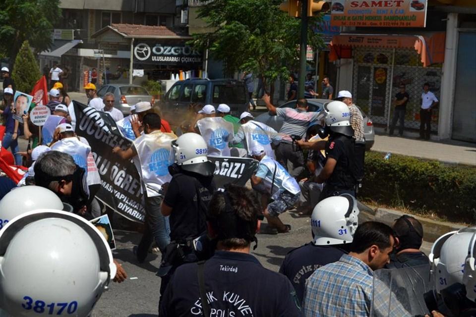 KESK'e polis müdahalesi