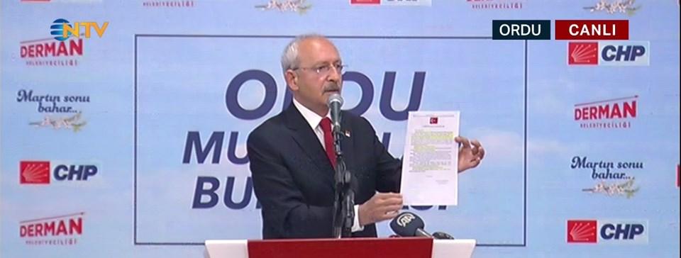 Kılıçdaroğlu, söz konusu kararnameyi gösterdi