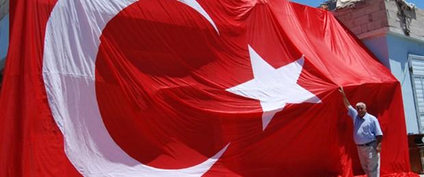 Köylerini Türk bayrağıyla donalttılar