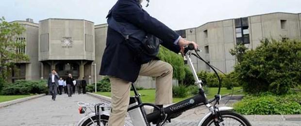 Kürkcü'nün makam aracı bisiklet