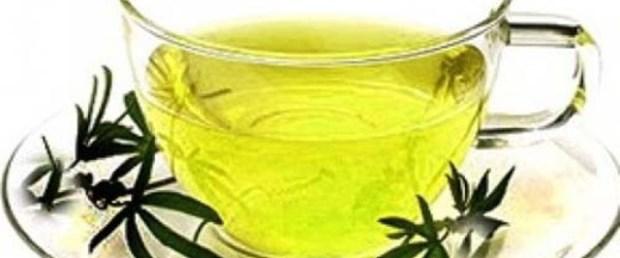 Kurumuş çatlak dudaklar için yeşil çay