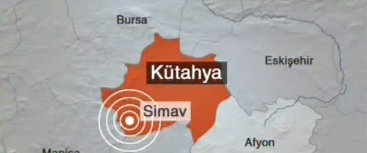 Kütahya'da 5.9 şiddetinde deprem