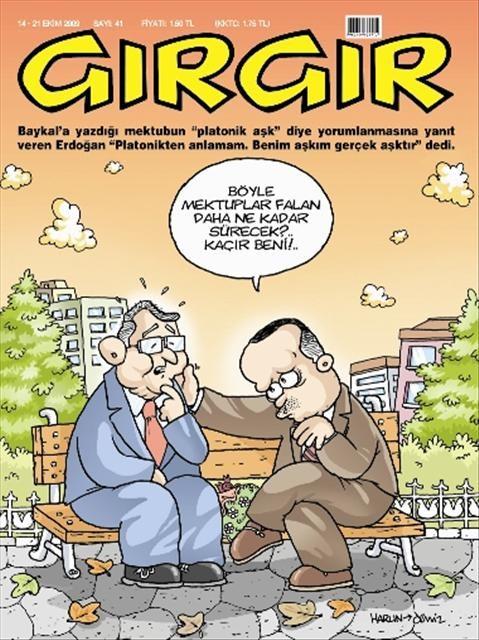 Mektuplaşma siyaseti karikatürde